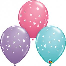 "11"" Special Assorted Contempo Stars Latex Balloons 25pk"