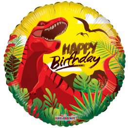 "18"" Happy Birthday Dinosaur Foil Balloons"