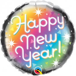 "18"" Happy New Year Prismatic Foil Balloons"