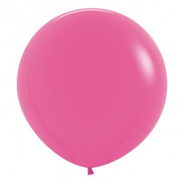 "24"" Fashion Fuchsia Latex Balloons 3pk"