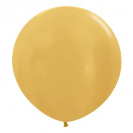 "24"" Metallic Gold Latex Balloons 3pk"