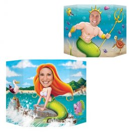 Double Sided Mermaid And King Neptune Photo Prop