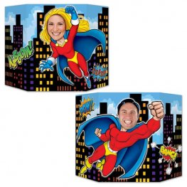 Double Sided Super Hero Photo Prop