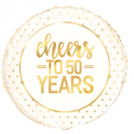 "18"" Cheers To 50 Years Foil Balloons"