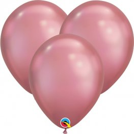 "7"" Chrome Mauve Latex Balloons 100pk"