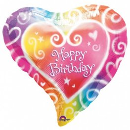 "18"" Watercolour Birthday Foil Balloons"