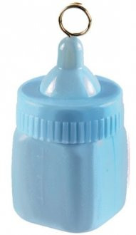 Pastel Blue Baby Bottle Weight