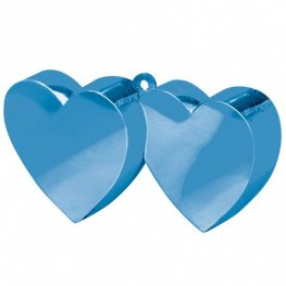 Royal Blue Double Heart Balloon Weight 6oz