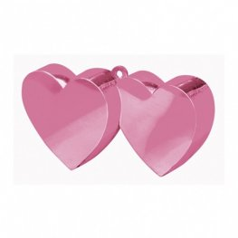 Light Pink Double Heart Balloon Weight 6oz