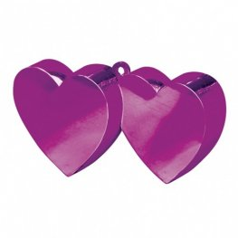 Magenta Pink Double Heart Balloon Weight 6oz