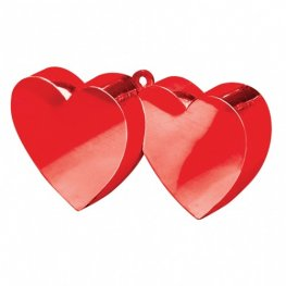 Red Double Heart Balloon Weight 6oz