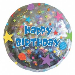 "18"" Happy Birthday Confetti Foil Balloons"