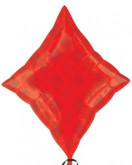"24"" Red Diamond Junior Shape Balloons"