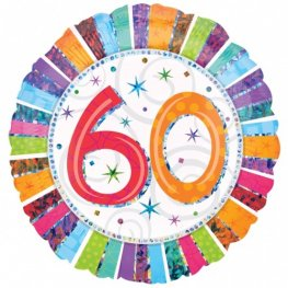 "18"" 60th Radiant Birthday Foil Balloons"