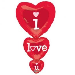 I Love You Stacker SuperShape Balloon