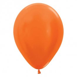 "5"" Metallic Orange Latex Balloons 100pk"