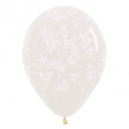 "12"" Filigree Clear Latex Balloons"