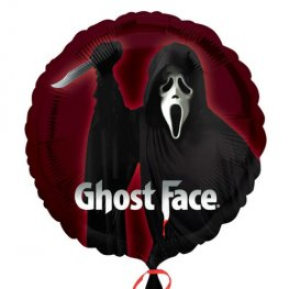 "18"" Ghost Face Halloween Foil Balloons"