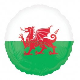 "18"" Pride Passion Party Wales Flag Foil Balloons"