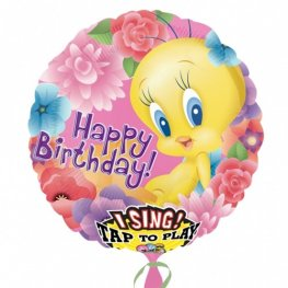 SATB Tweety Happy Birthday Balloons