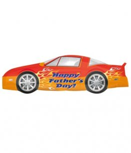 Happy Fathers Day Car Supershape Balloons
