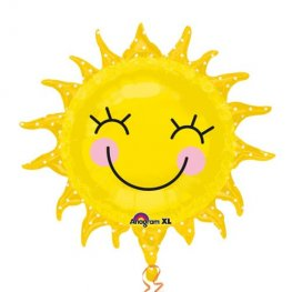 Sunshine Sun Supershape Foil Balloons