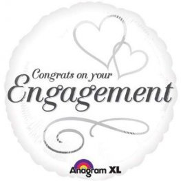 "18"" Two Hearts Engagement Foil Balloons"