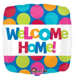 "18"" Welcome Home Colourful Dots Foil Balloons"