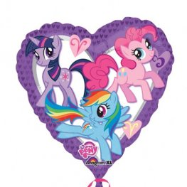 "18"" My Little Pony Heart Foil Balloons"