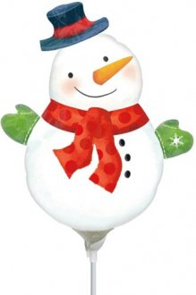 "9"" Whimsical Snowman Mini Shape Balloons"