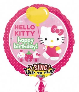 Hello Kitty Sing A Tune Birthday Foil Balloons