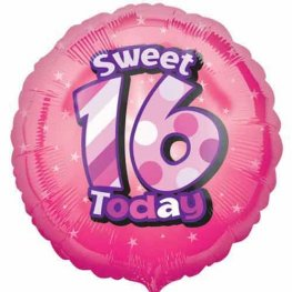 "18"" Sweet 16 Today Foil Balloons"