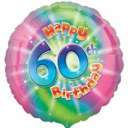 "18"" Happy 60th Birthday Foil Balloons"