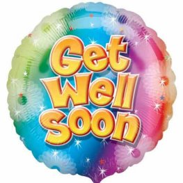 "18"" Get Well Soon Foil Balloons"