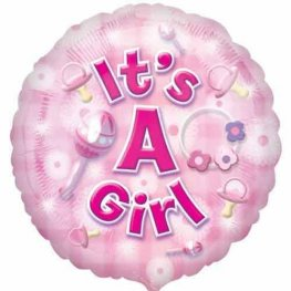 "18"" Its A Girl Foil Balloons"