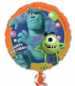 "18"" Monsters University Happy Birthday Foil Balloons"