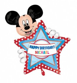 Mickey Mouse Personalised Birthday Shape Balloons