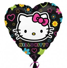 "18"" Hello Kitty Tween Heart Foil Balloons"