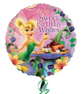 "18"" Happy Birthday Tinkerbell Foil Balloons"