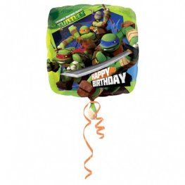 "18"" Ninja Turtles Happy Birthday Foil Balloons"