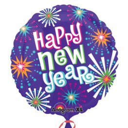 "21"" Bright New Year Foil Balloons"
