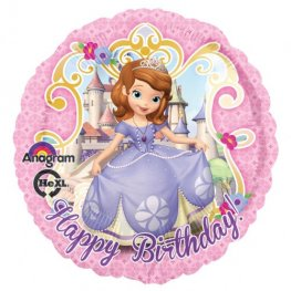 "18"" Sofia The First Happy Birthday Foil Balloons"