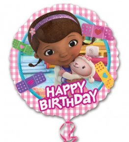 "18"" Doc McStuffins Happy Birthday Foil Balloons"