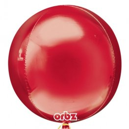 Red Colour Orbz Foil Balloons 3pk