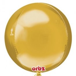 Gold Colour Orbz Foil Balloons 3pk