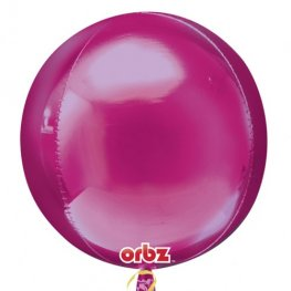 Bright Pink Colour Orbz Foil Balloons 3pk