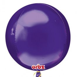 Purple Colour Orbz Foil Balloons 3pk