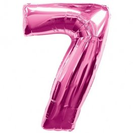 Number 7 Pink Supershape Balloons