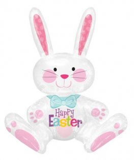 Sitting Bunny Air Filled Foil Balloons