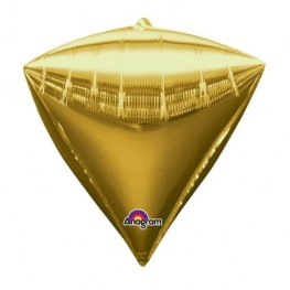 Gold Colour Diamondz Foil Balloon 3pk